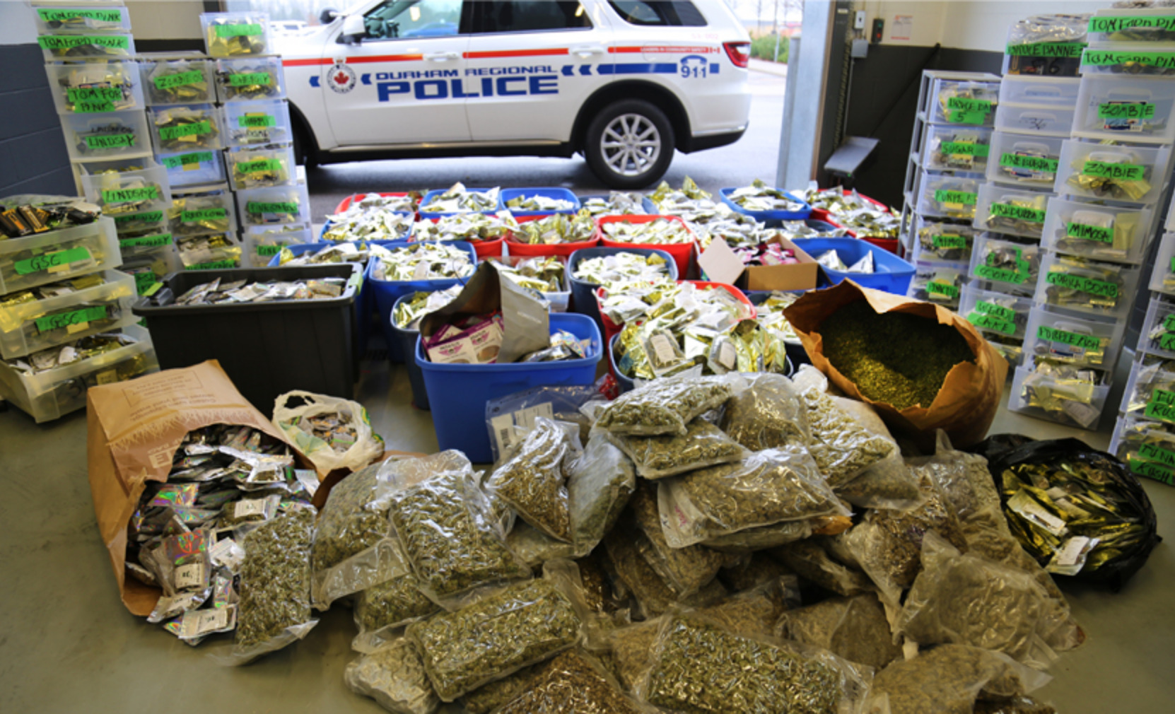 Police in Durham, Ontario seize more than $2 million in illicit cannabis and cash