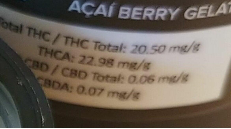 Incorrect labelling triggers recall for Acai Berry Gelato 3.5 gram jar