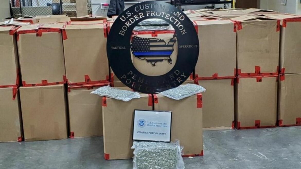 US has seized more than 13,000 pounds of cannabis at US/Canada border this year
