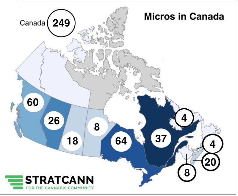 Micro cannabis licenses across Canada continue to grow